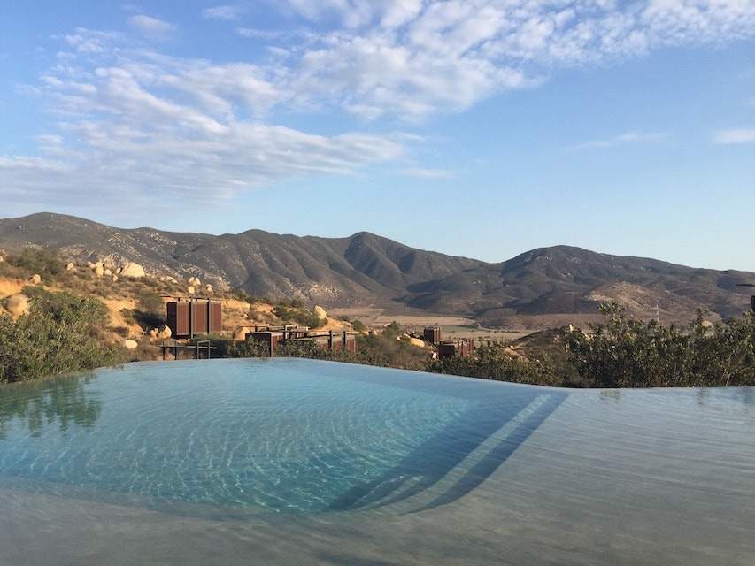 The pool at Encuentro Guadalupe