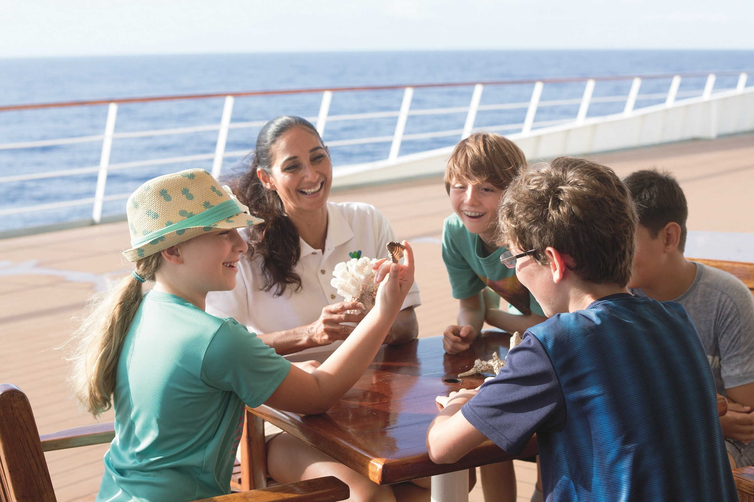 Kiddos can learn with a naturalist on Paul Gauguin Cruises.