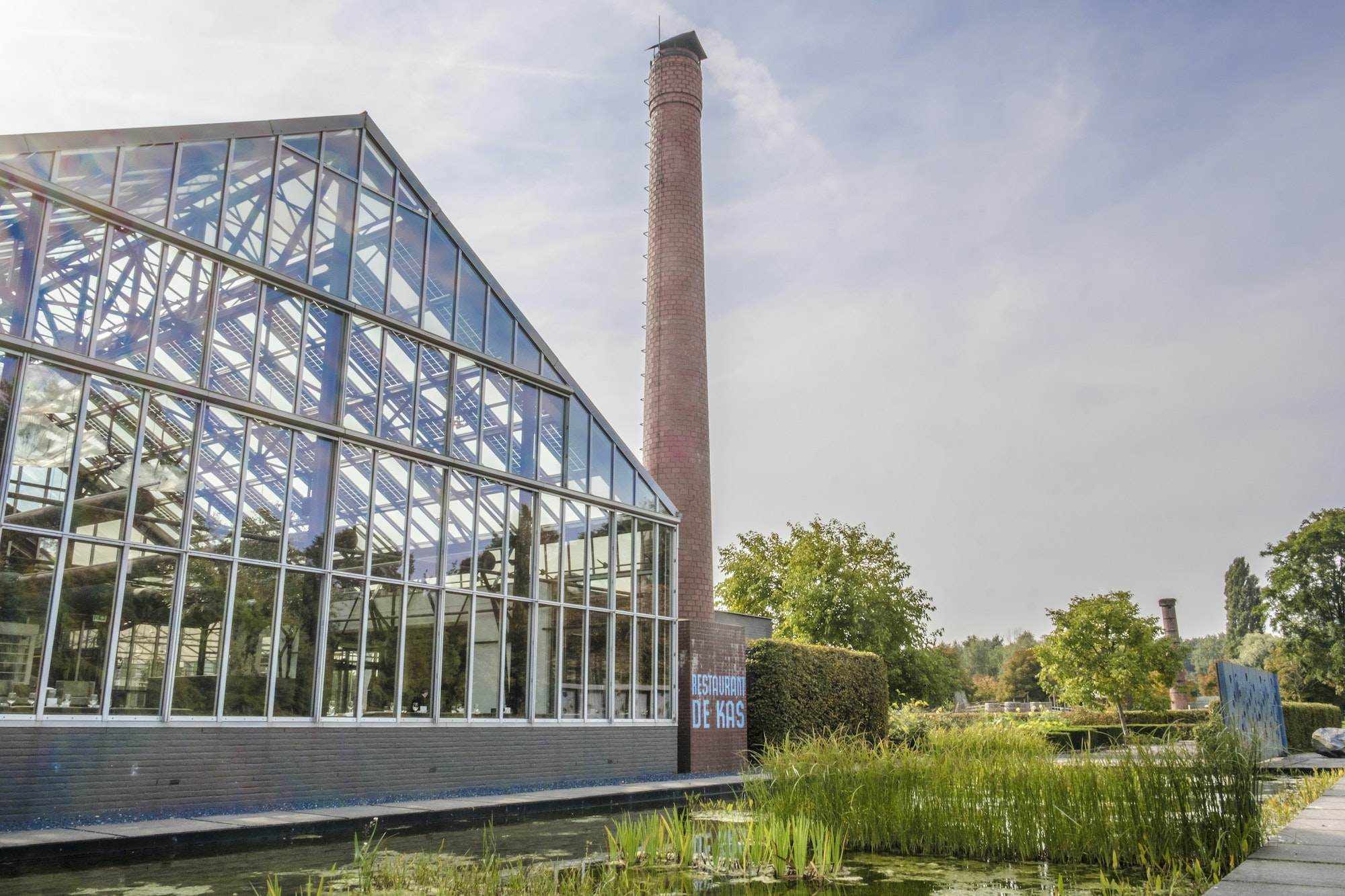 De Kas restaurant is housed in a refurbished greenhouse in Amsterdam.