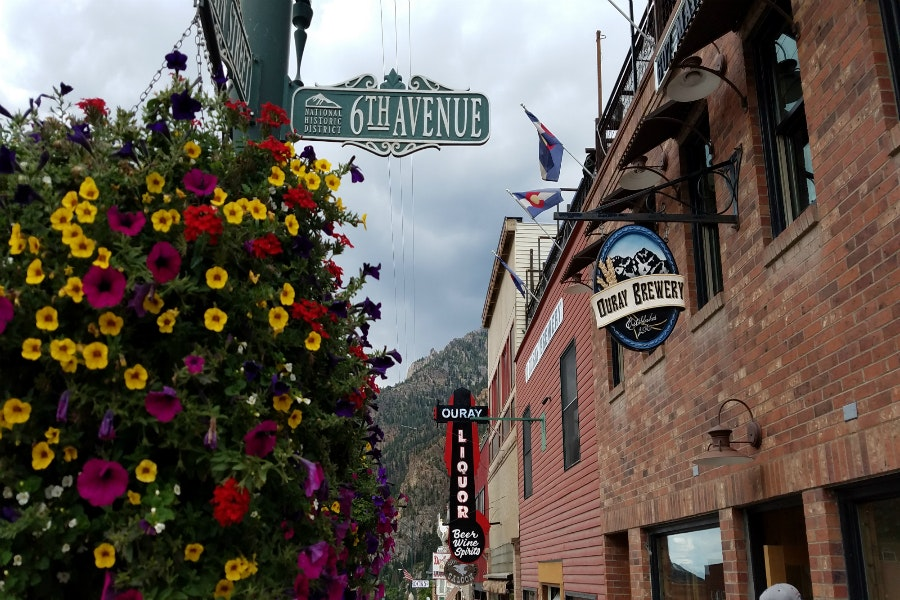 Ouray's quaint Main Street comes lined with antique shops and a 130-year-old opera house.