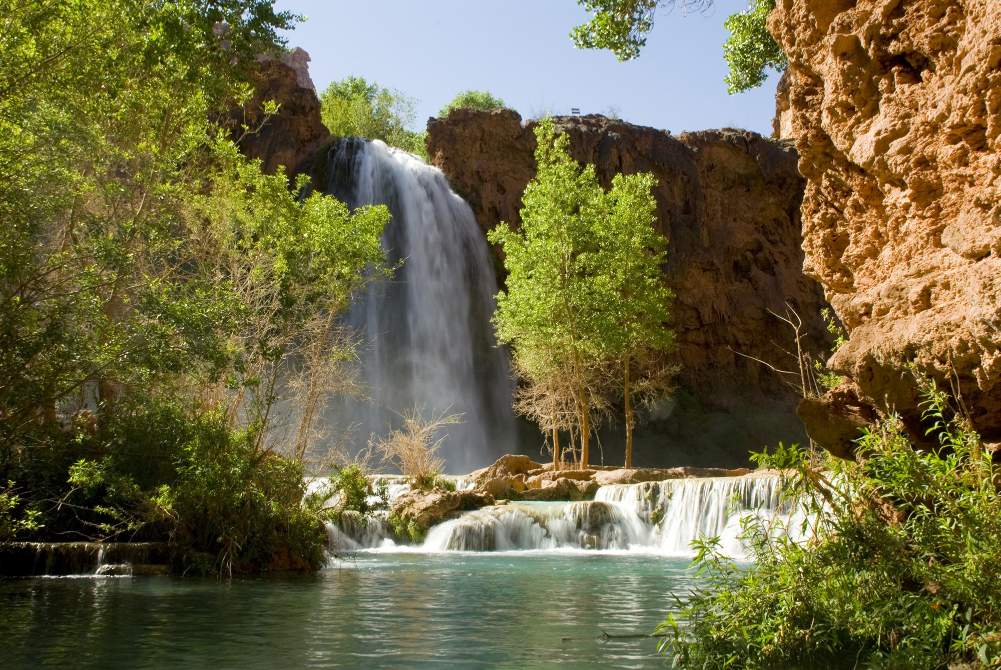 It's a 10-mile hike to reach Havasu Falls and its nearby campground.