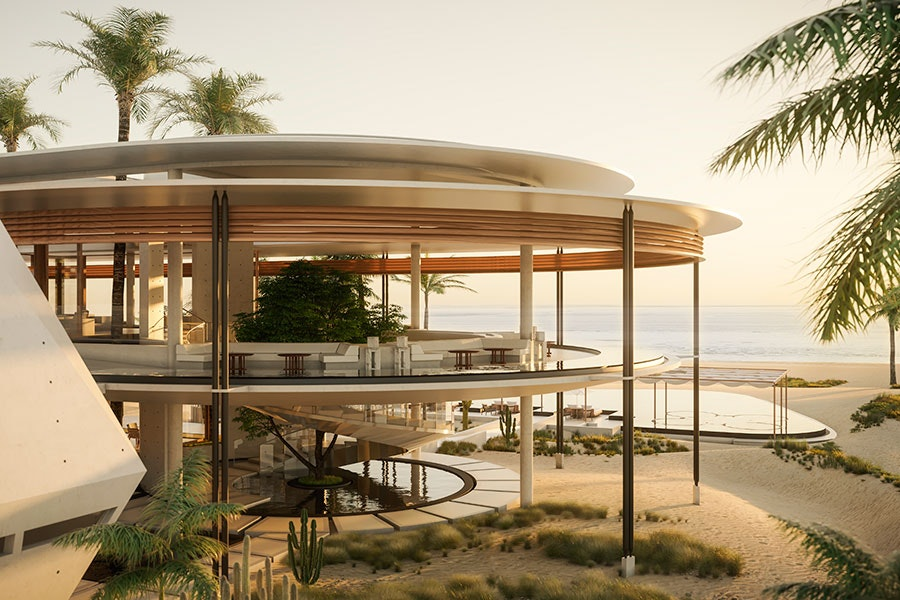 The renderings of the new Aman resort look almost futuristic.