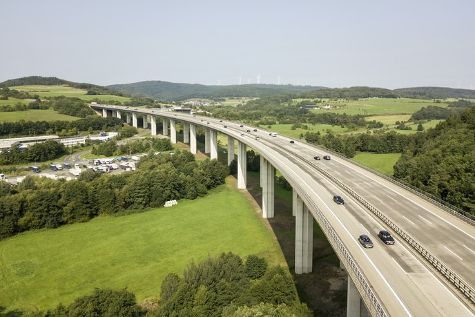 It's illegal to stop on Germany's Autobahn for any reason that's not an emergency.