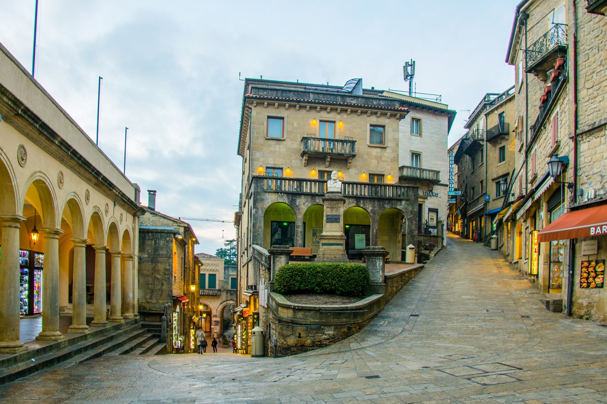 The streets of San Marino are built directly into Mount Titano.