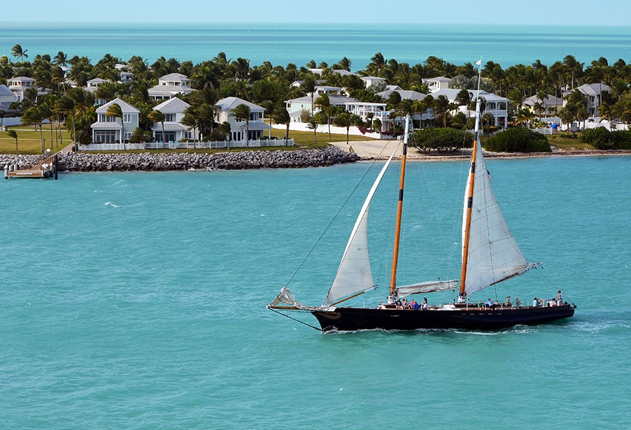 Key West's world-class coral reef and crystal-clear water make it perfect for snorkeling, kayaking, sailing, and other water activities.