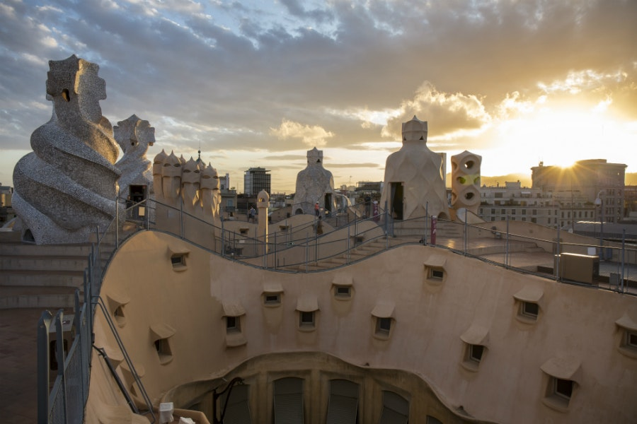 Casa Milà features live jazz performances on the rooftop on summer weekends.