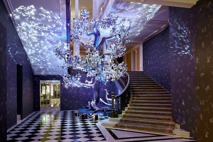 Diane von Furstenberg designed the Christmas tree at Claridge's in London.