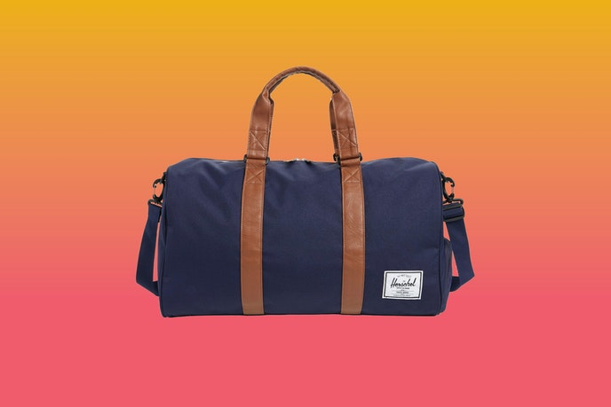 Herschel Supply Co. offers the Novel Duffle Bag in black, navy, and dark olive.