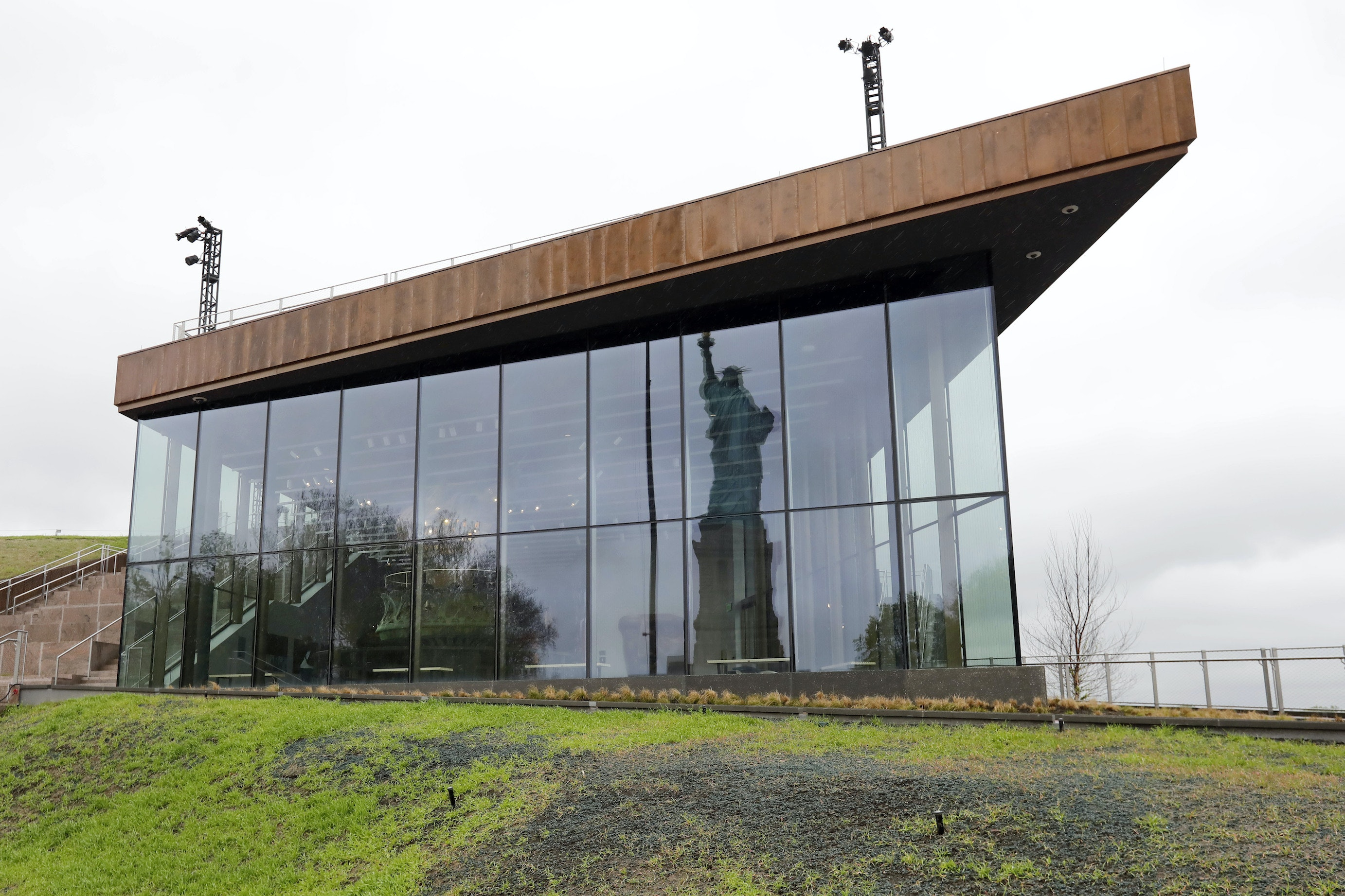 The museum had previously been housed in a smaller space inside the statue's pedestal.