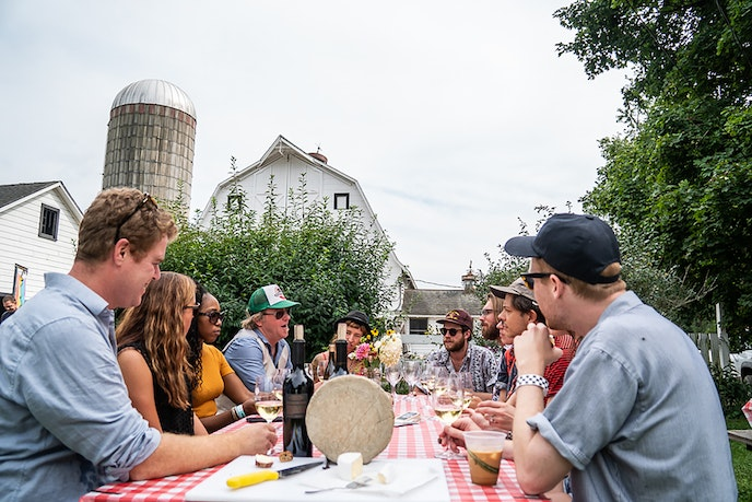 Set on a farm in the Hudson Valley, Huichica Hudson serves food grown on-site and nearby, giving guests an opportunity to taste more of the Hudson Valley than just its favorite music.