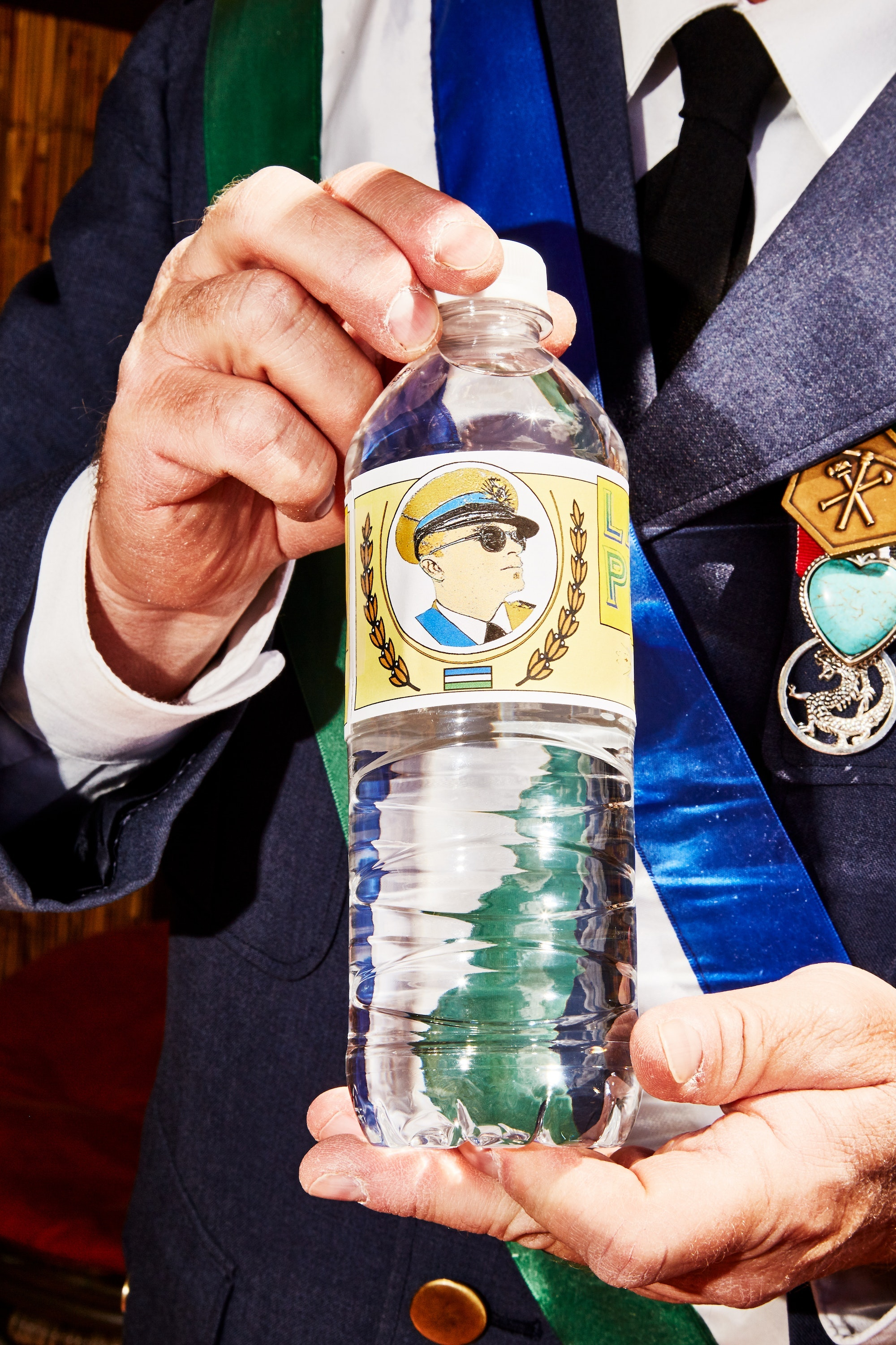 Lombard notes that Molossia is full of funny little details, like signs for free rocks or bottles of water with the President's face on them.