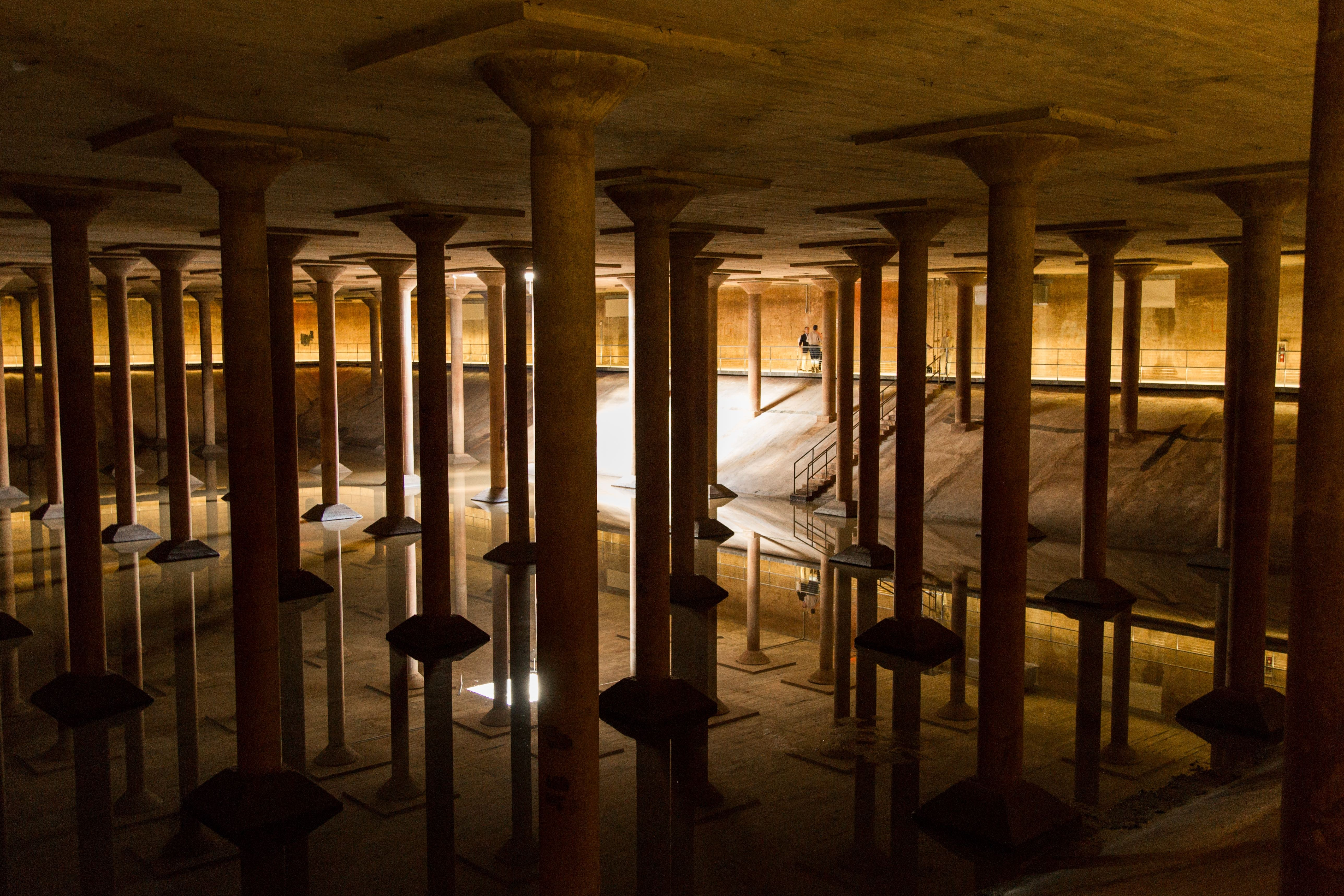 Catch another of Cruz-Diez's works at the Buffalo Bayou Park Cistern.