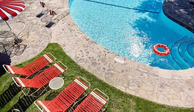 The retro-inspired Austin Motel pool