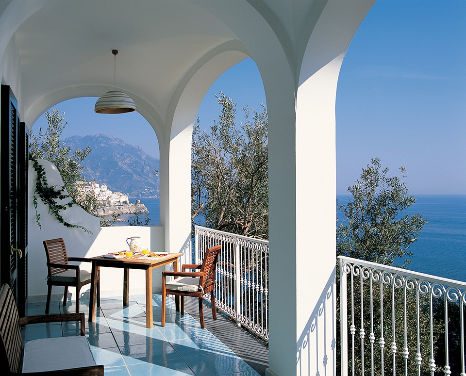 Hotel Santa Caterina, with its Amalfi Coast views, is a perfect spot for a romantic getaway.