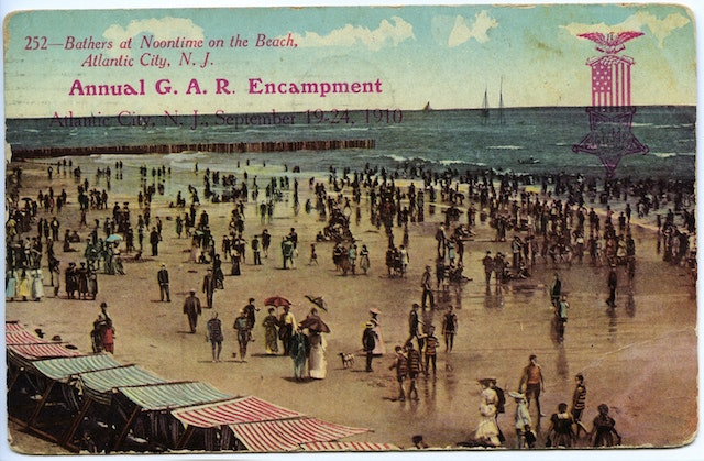 From the days when long pants and skirts were all the rage on New Jersey's beaches, c. 1910