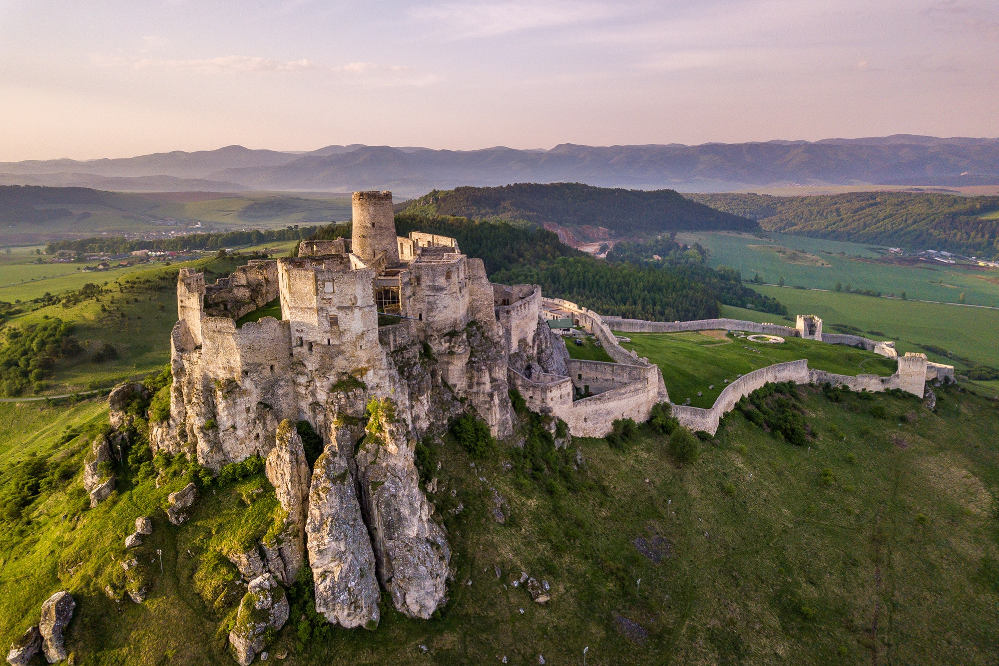 The abandoned Spiš Castle in Slovakia was inscribed to the UNESCO World Heritage list in 1993.