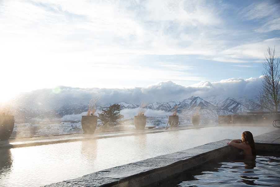 The Jackson Hole Spa at Amangani features exercise studios, treatment and steam rooms, and other wellness programs.