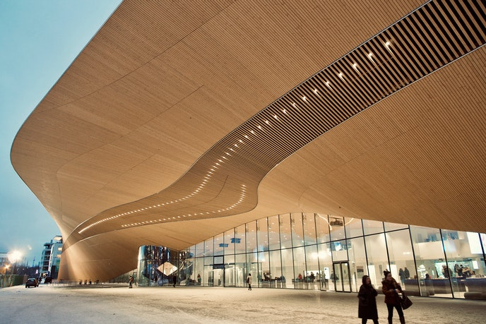 Helsinki opened Oodi, a 185,677-square-foot public library, in the city center last December.