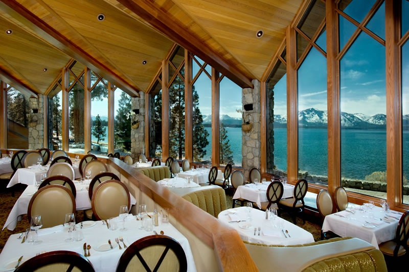 The gorgeous view at Edgewood Restaurant in Lake Tahoe