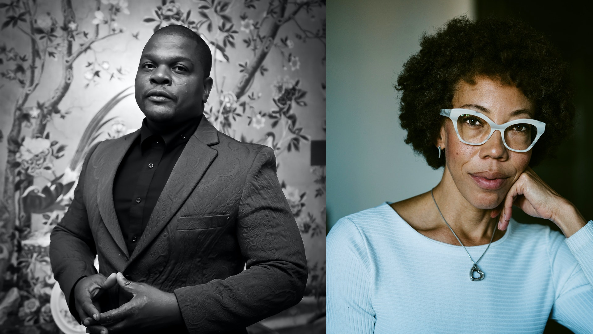 The Obamas' portrait artists of choice, Kehinde Wiley and Amy Sherald