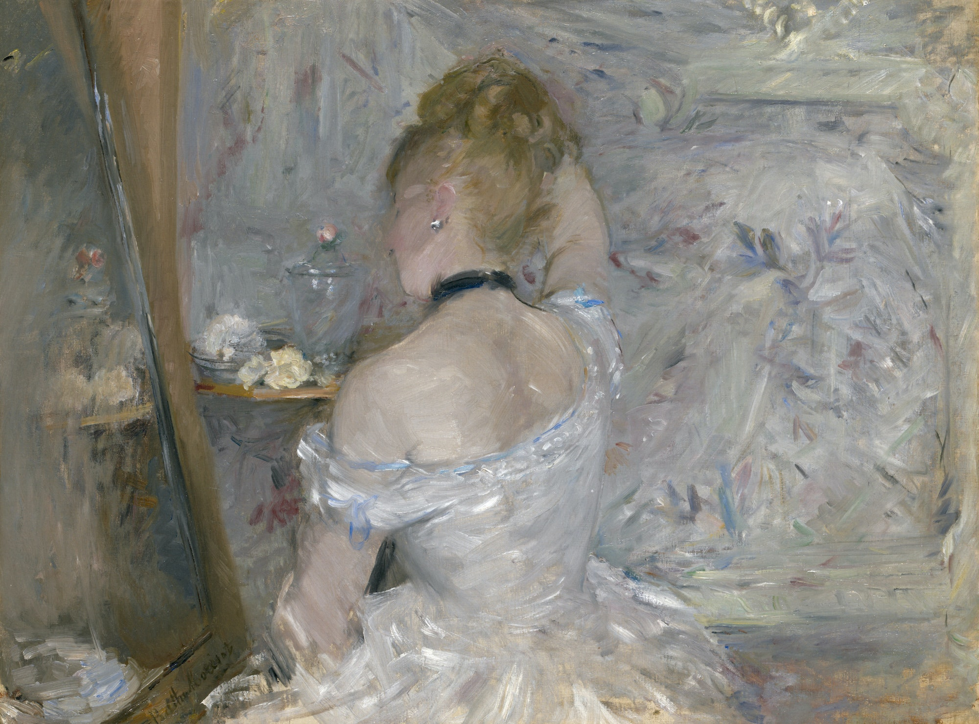 "Berthe Morisot, ""Woman at Her Toilette"" (1875–80)"