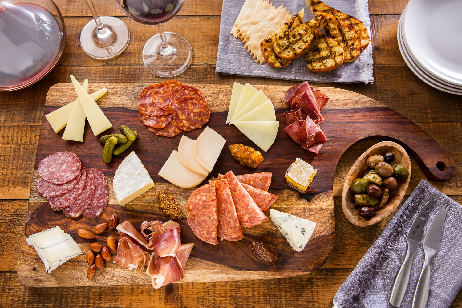 If you find yourself a Wine Bar George, don't leave without ordering the Big Board—a selection of six cheeses, five meats, and condiments such as pickles, almonds, fig spread, and honey.