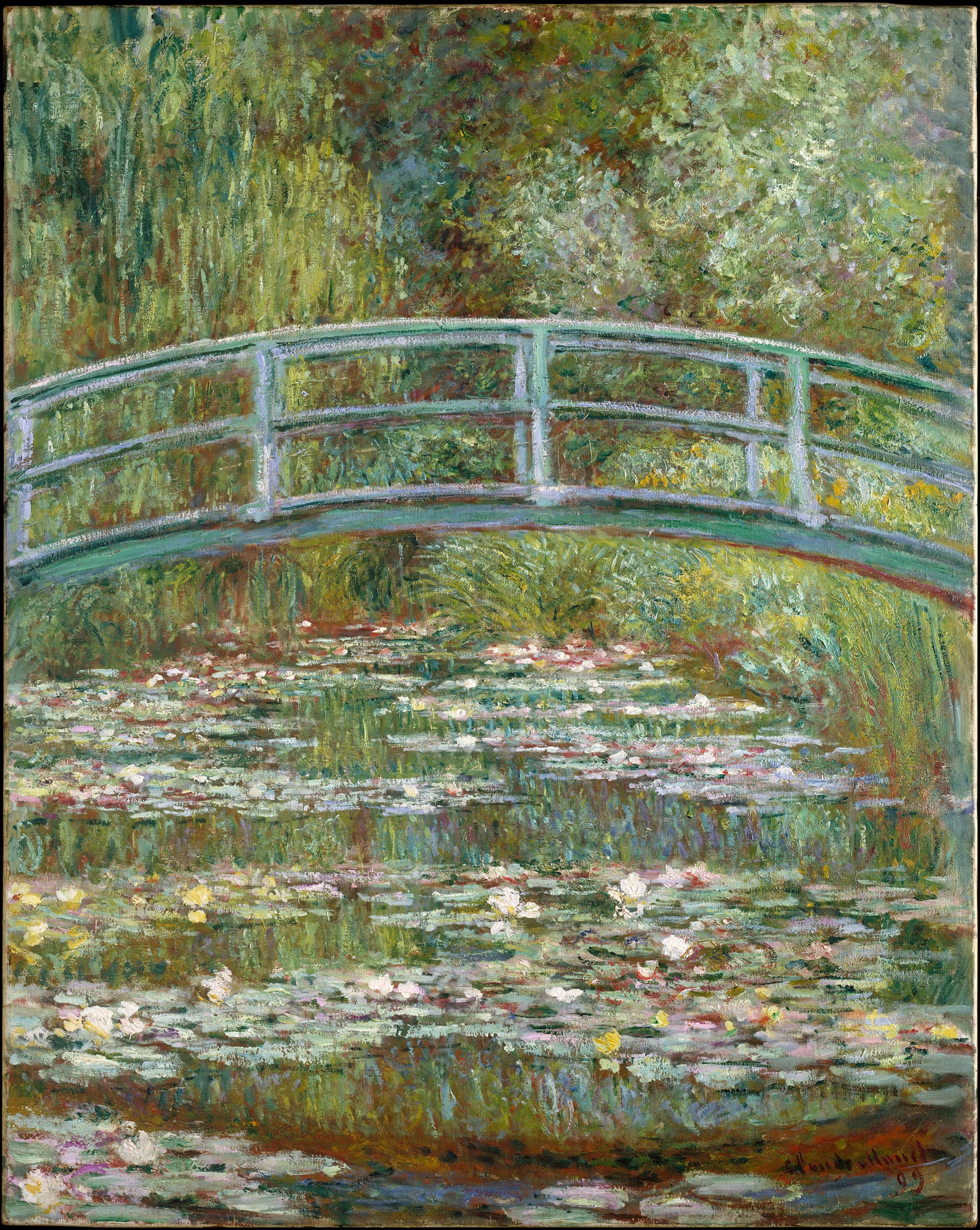 """You can visit the pond featured in """"Bridge Over a Pond of Water Lilies"""" at Monet's home in Giverny."""