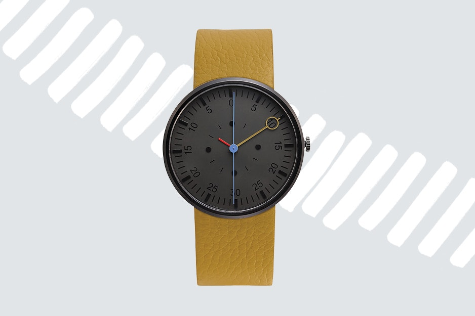 Keep track of train schedules or flight departures with a classy wristwatch.