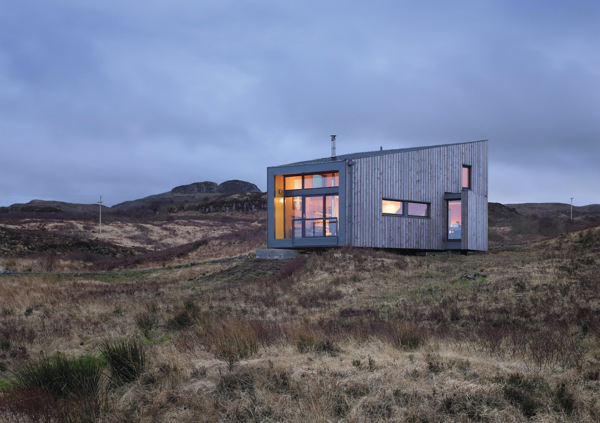 "The low-impact ""Hen House"" offers quick access to the unique landscapes of Scotland's Isle of Skye."