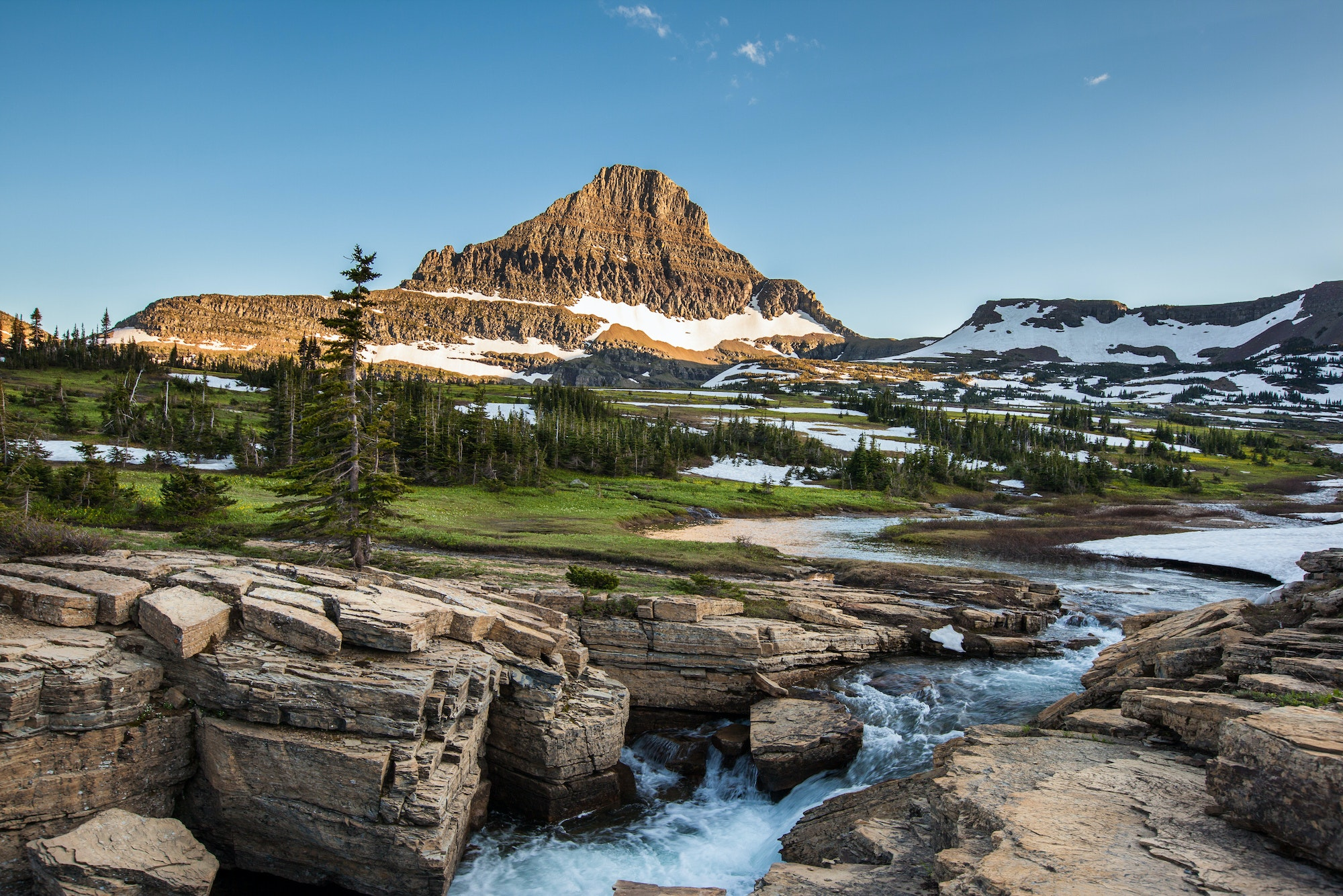 Glacier National Park has over 745 miles of maintained hiking trails.