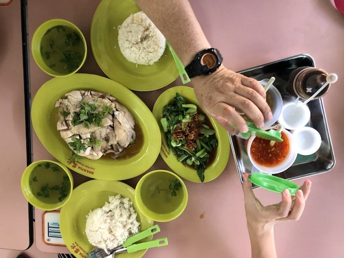Hainanese chicken rice from Loy Kee Chicken Rice, Whampoa Drive Food Centre