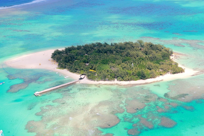 Managaha Island in the Northern Mariana Islands is popular for its white sand and clear water.