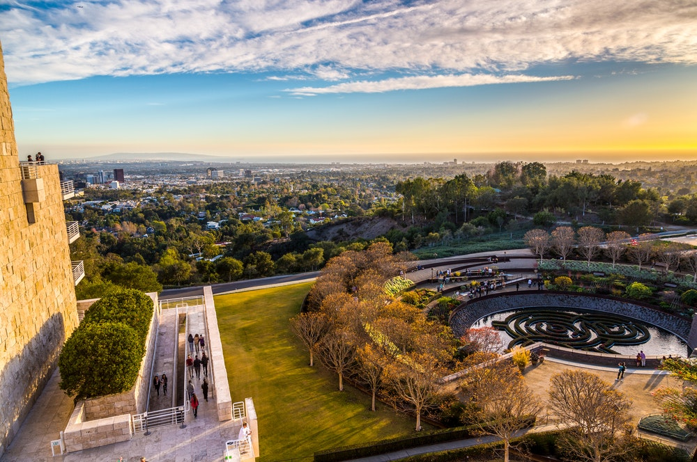 The Getty Museum has an impressive art collection and similarly impressive city views.
