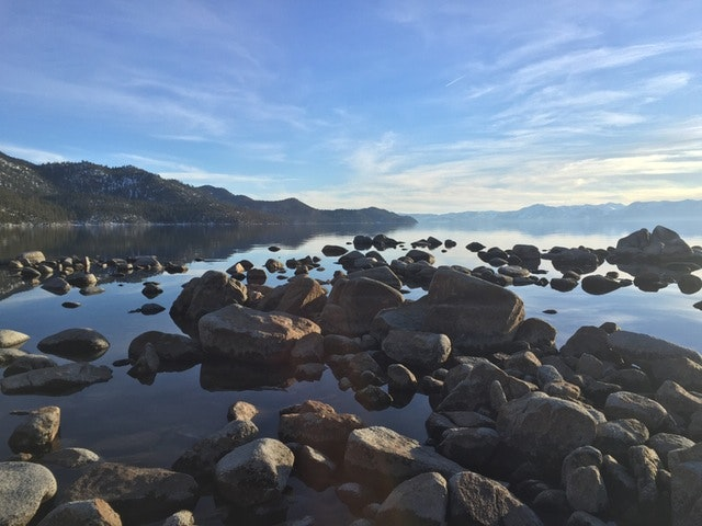 A family trip to Lake Tahoe is Harmon's earliest travel memory.
