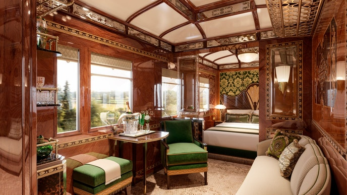 Vienna's imperial past is reflected in the suite design.