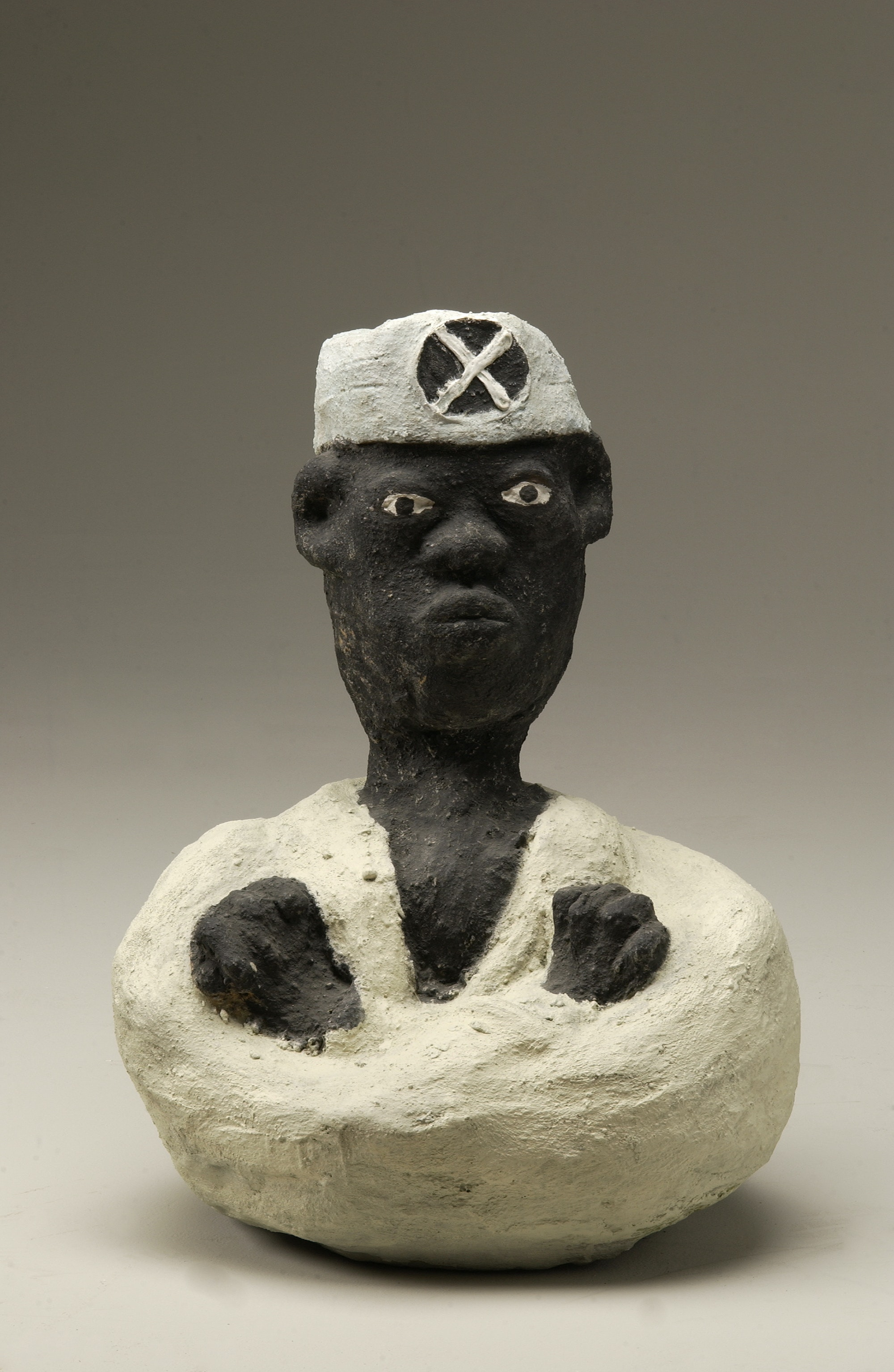 A Malcolm X sculpture by Dr. Charles Smith