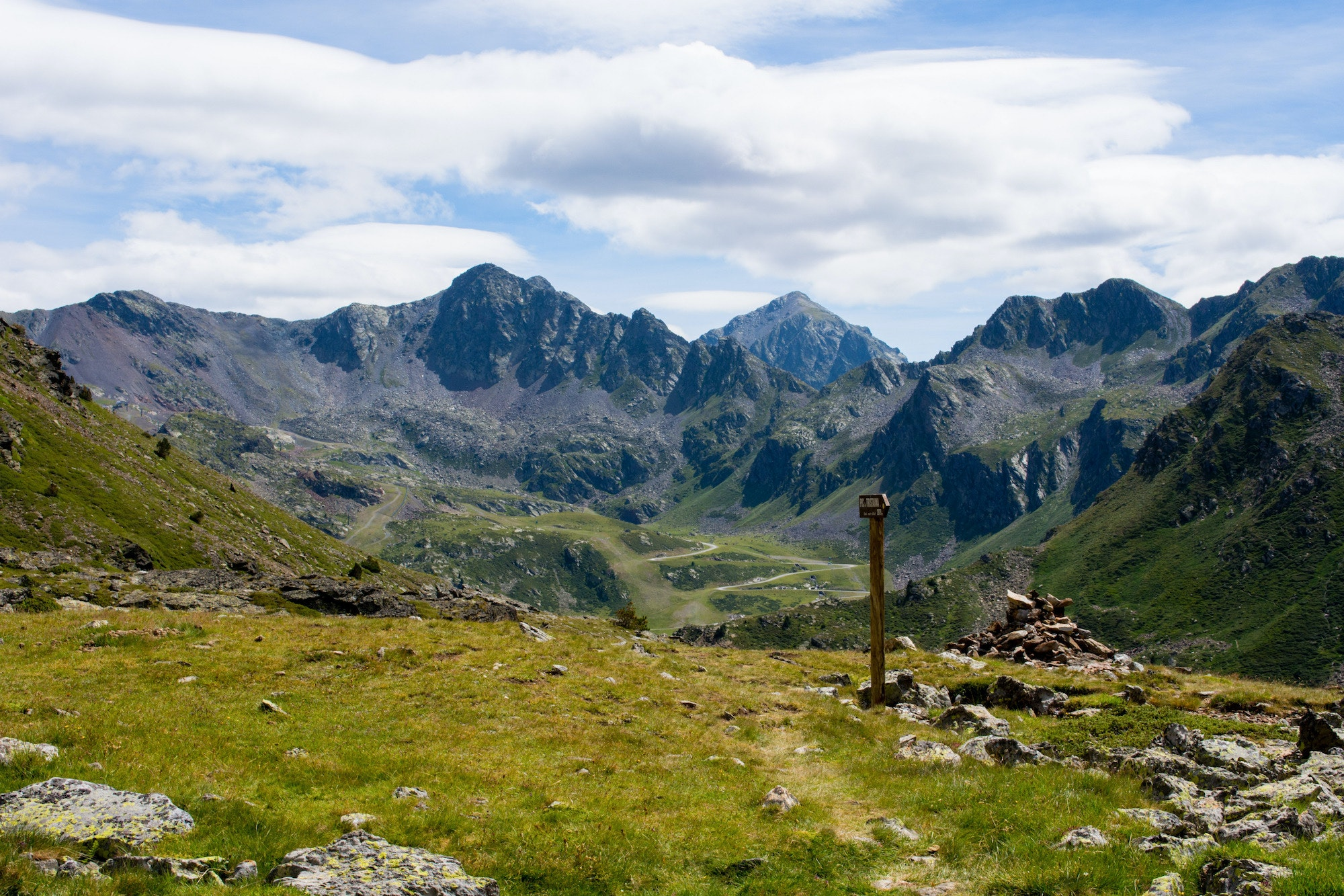 Andorra is an independent principality located between France and Spain in the Pyrenees mountains.