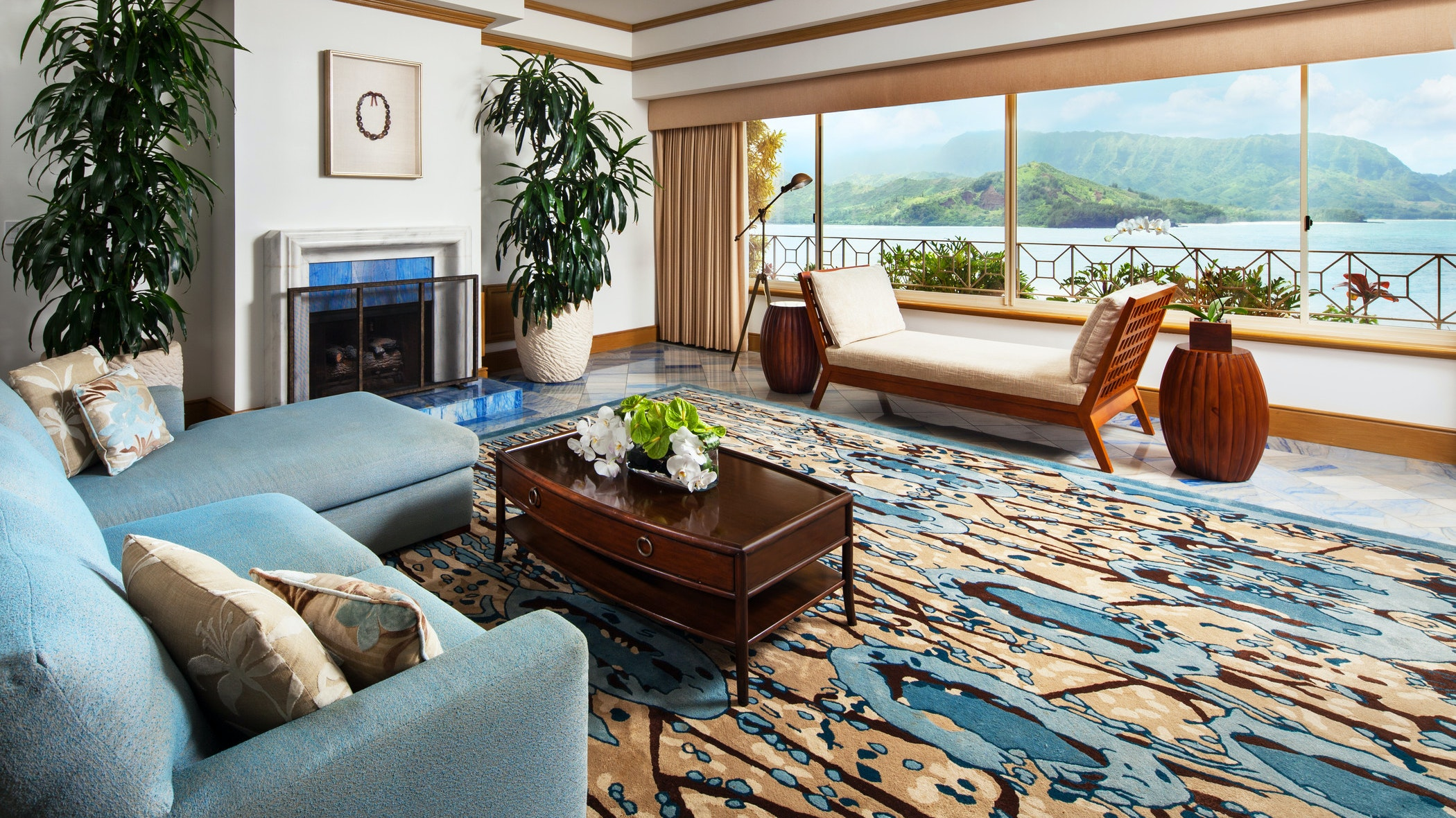 "The Presidential Suite at the St. Regis Princeville appeared in the George Clooney film ""The Descendants."""