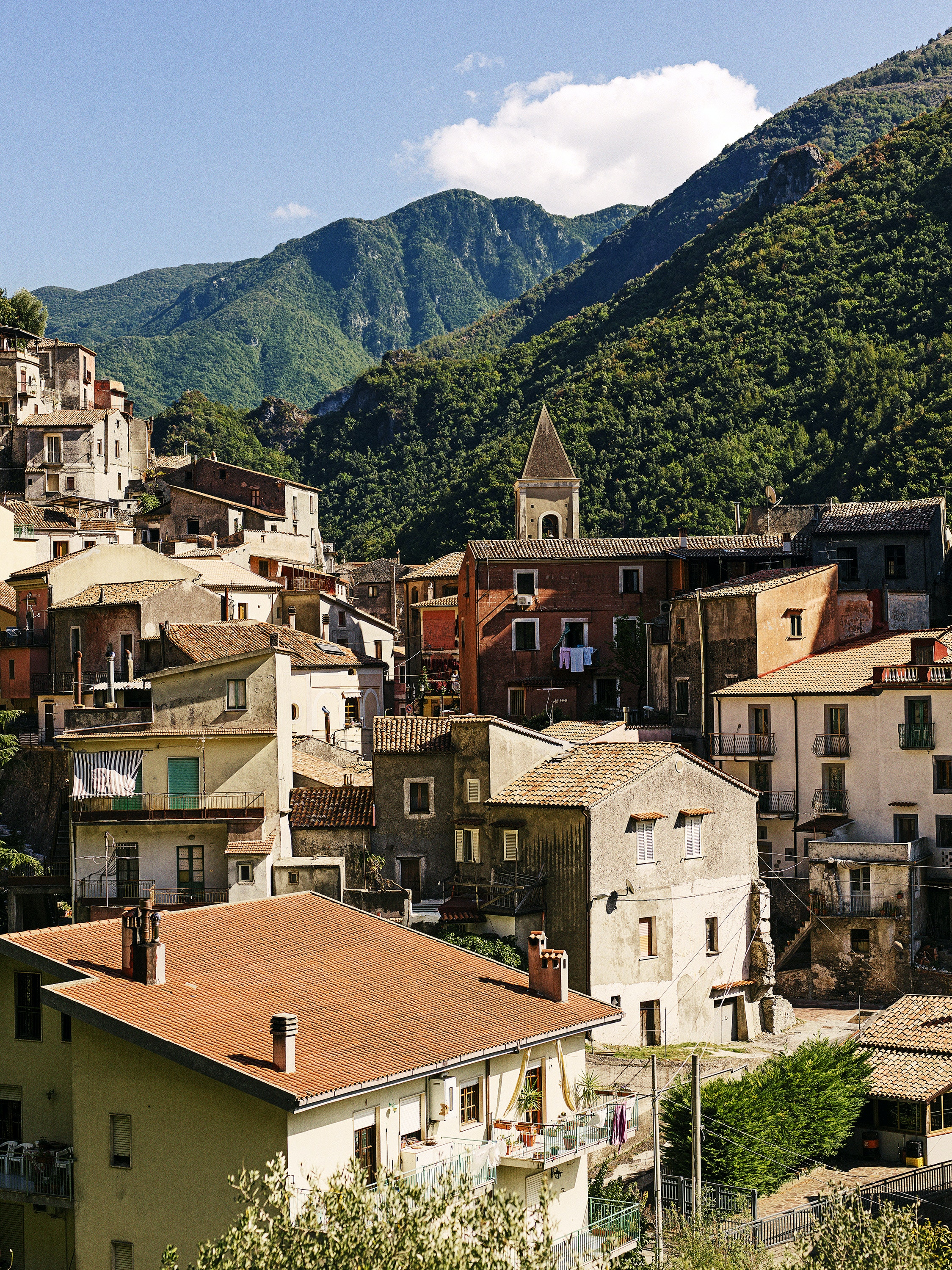 In Calabria's Cosenza province, the medieval town of Orsomarzo lies within the boundaries of Pollino National Park.