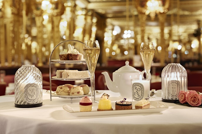 Your British Airways boarding pass will get you a complimentary glass of champagne with an afternoon tea in the Oscar Wilde lounge at London's Hotel Café Royal.