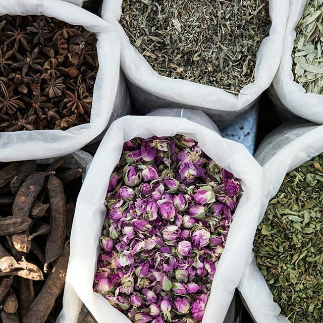 Browsing the markets of Marrakech for healing herbs