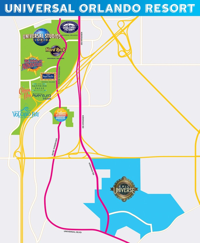 The map Universal released showing the location of the new park