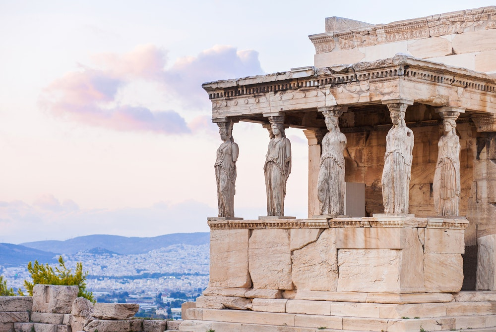 The Erectheion in Athens is a lot easier to admire without the mass of summer crowds.