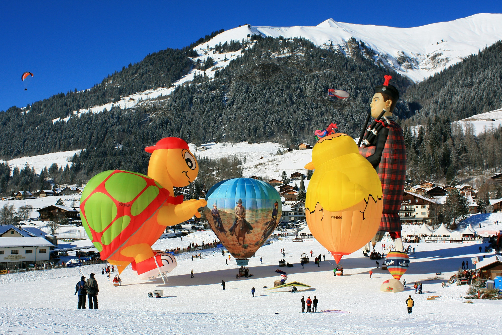 Château d'Oex is a popular adventure destination during both winter and summer in Switzerland.
