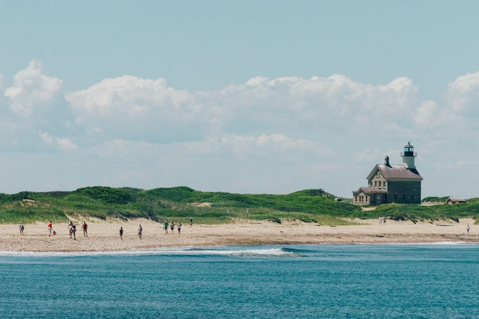 Block Island is a ferry ride away from Point Judith, Rhode Island.