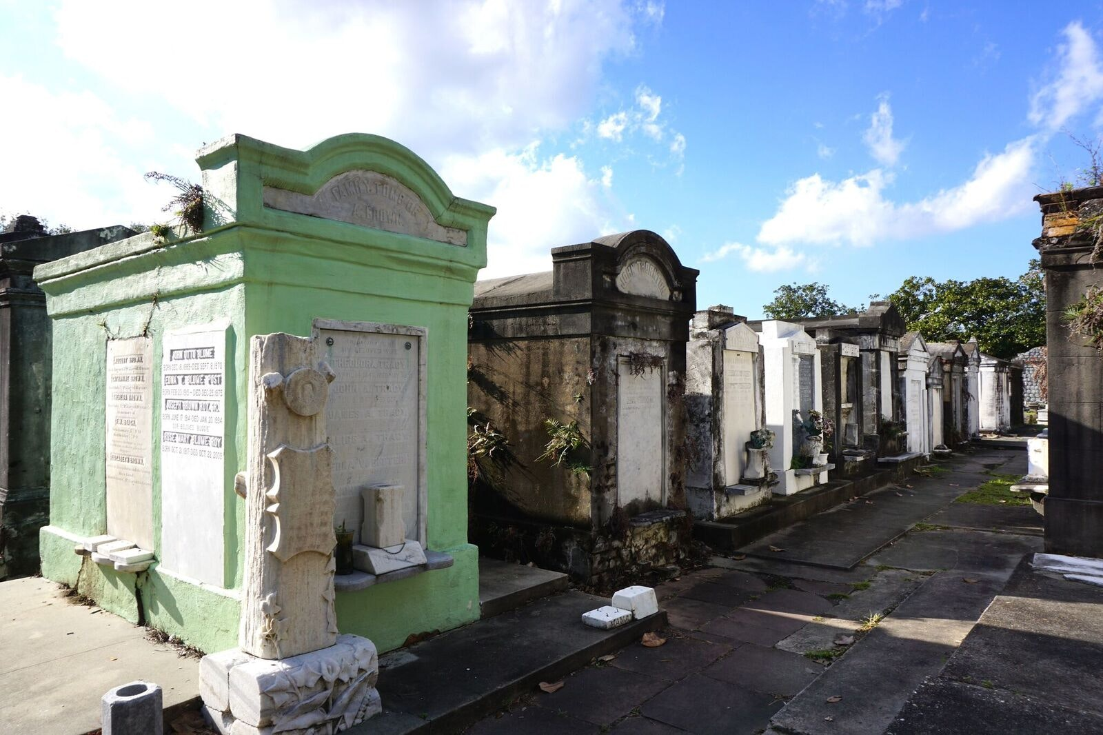An above-ground cemetery