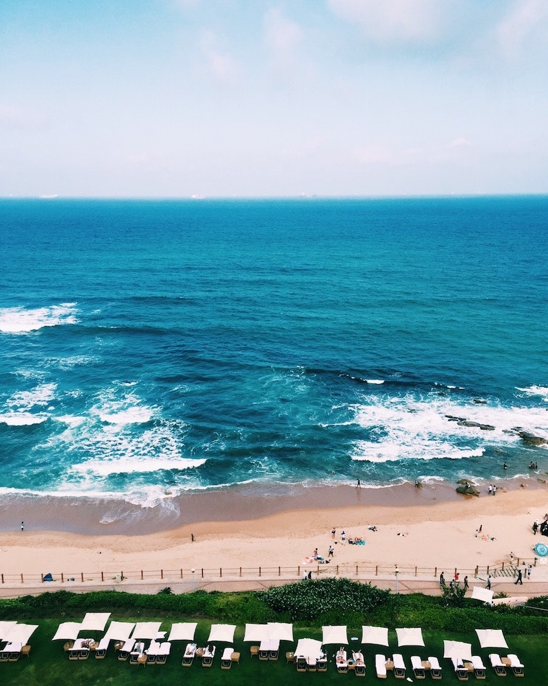 The beach in Durban