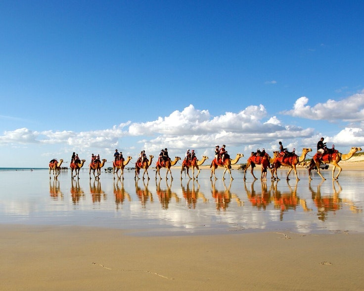 Some places—like Broome, Australia—are best explored by camel.