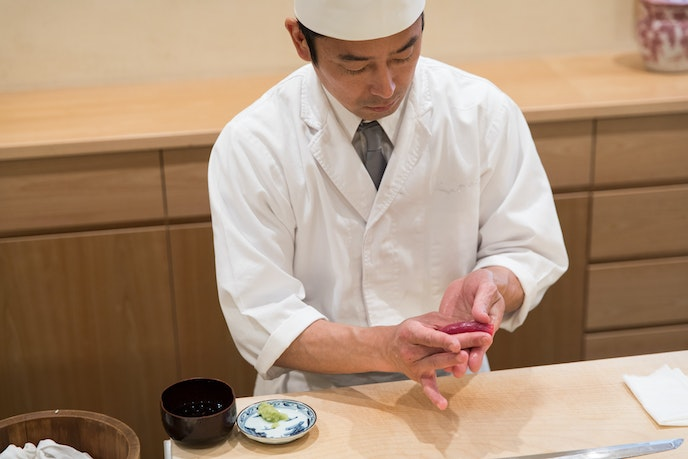 The kaiseki menu at Kenzo showcases traditional Japanese culinary techniques.