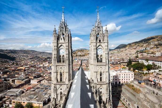 The Basilica del Voto Nacional has been technically under construction for more than 100 years.